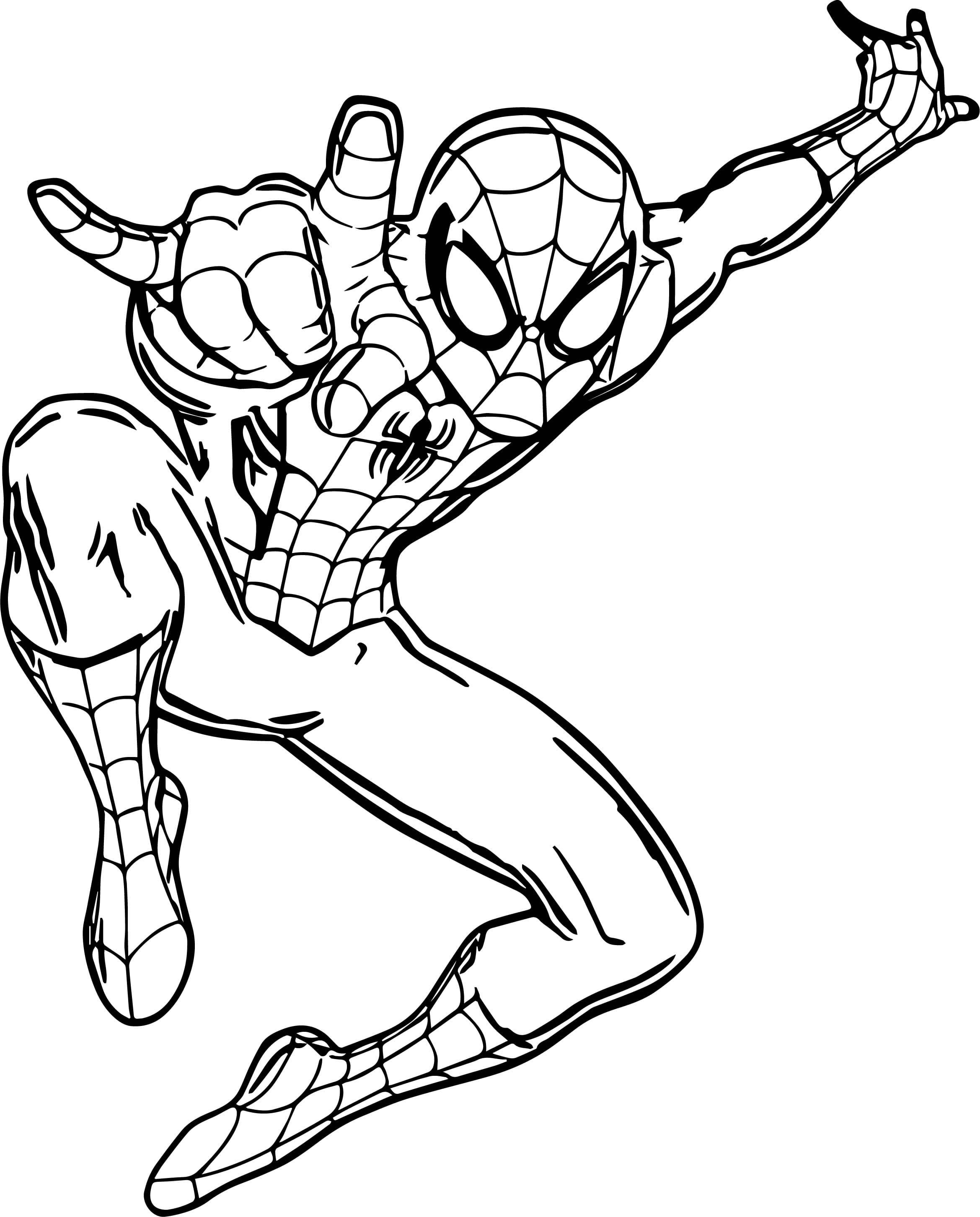 Раскраски Человека-паука для мальчиков. Распечатайте онлайн!
