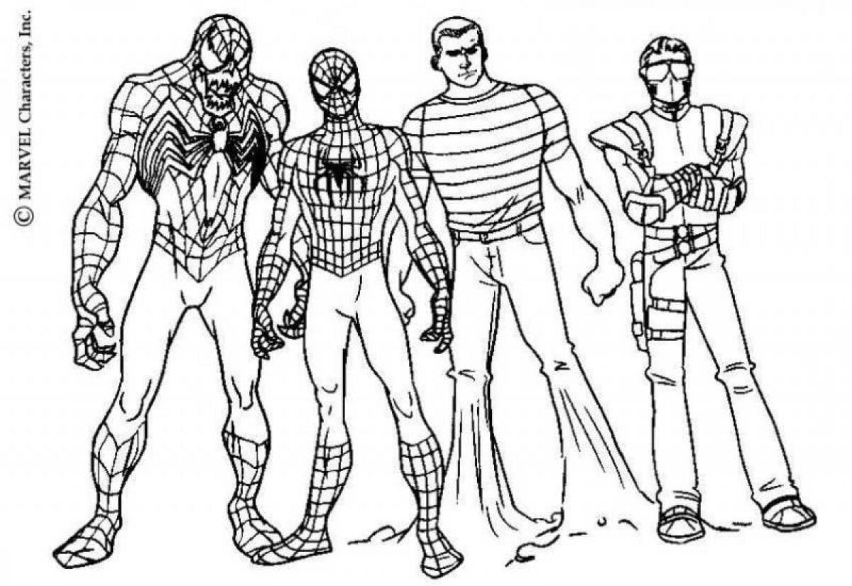 Desenhos Do Homem Aranha Para Colorir Imprima Super Heroi Online