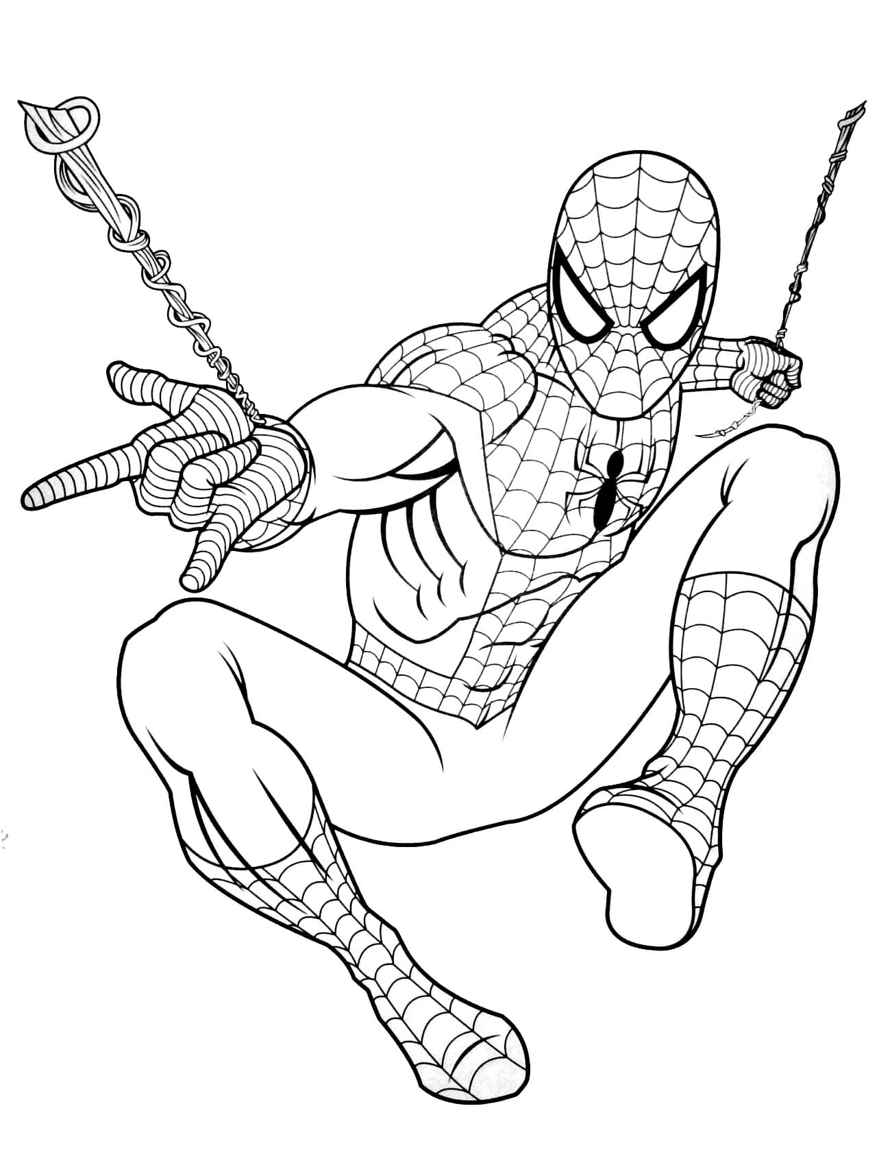 Disegni da colorare di Spiderman. Stampa online supereroe, 90 immagini