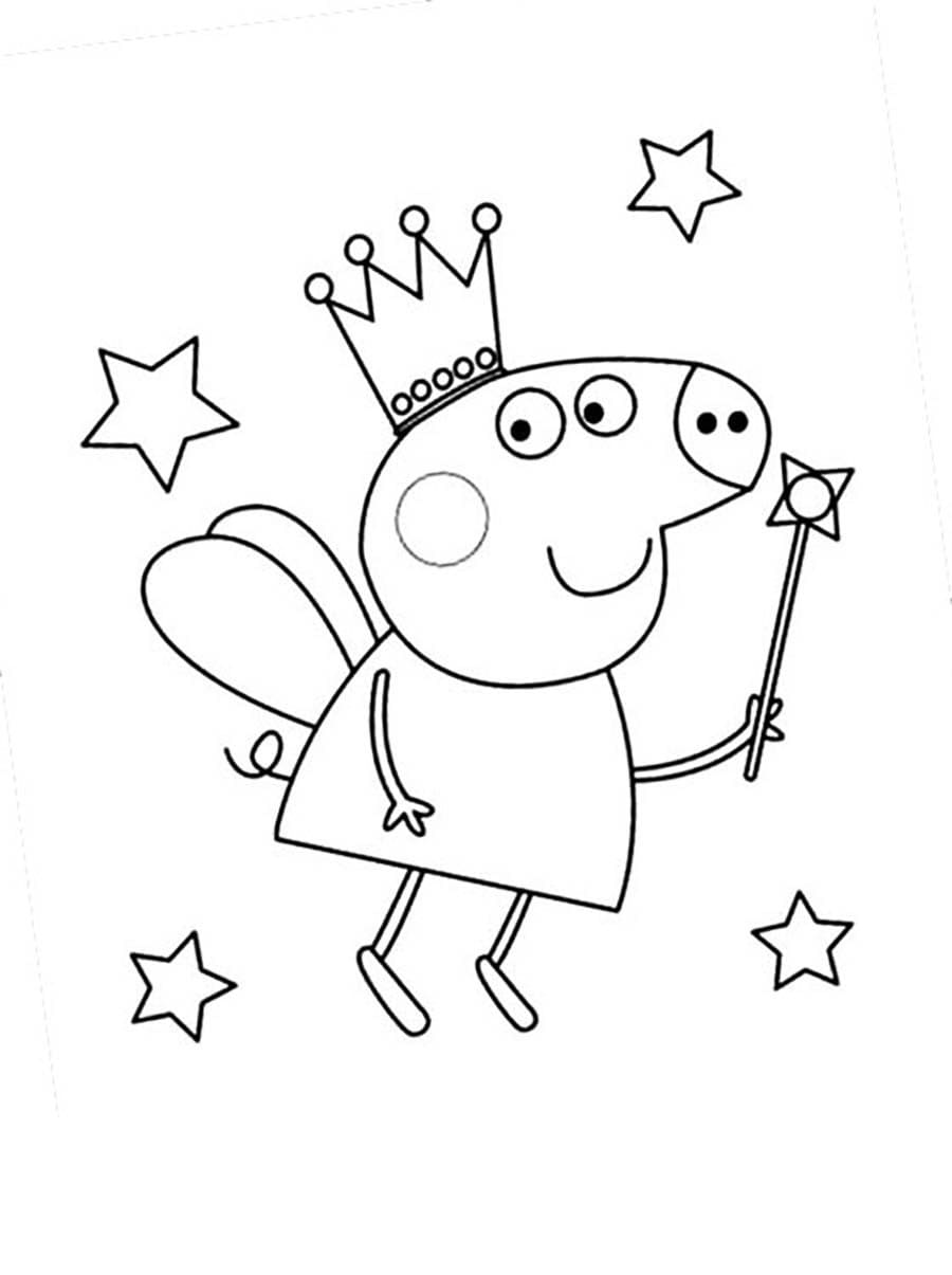 danny cane Learn Colours With Peppa Pig And Friends Colouring Page ... | 1205x900