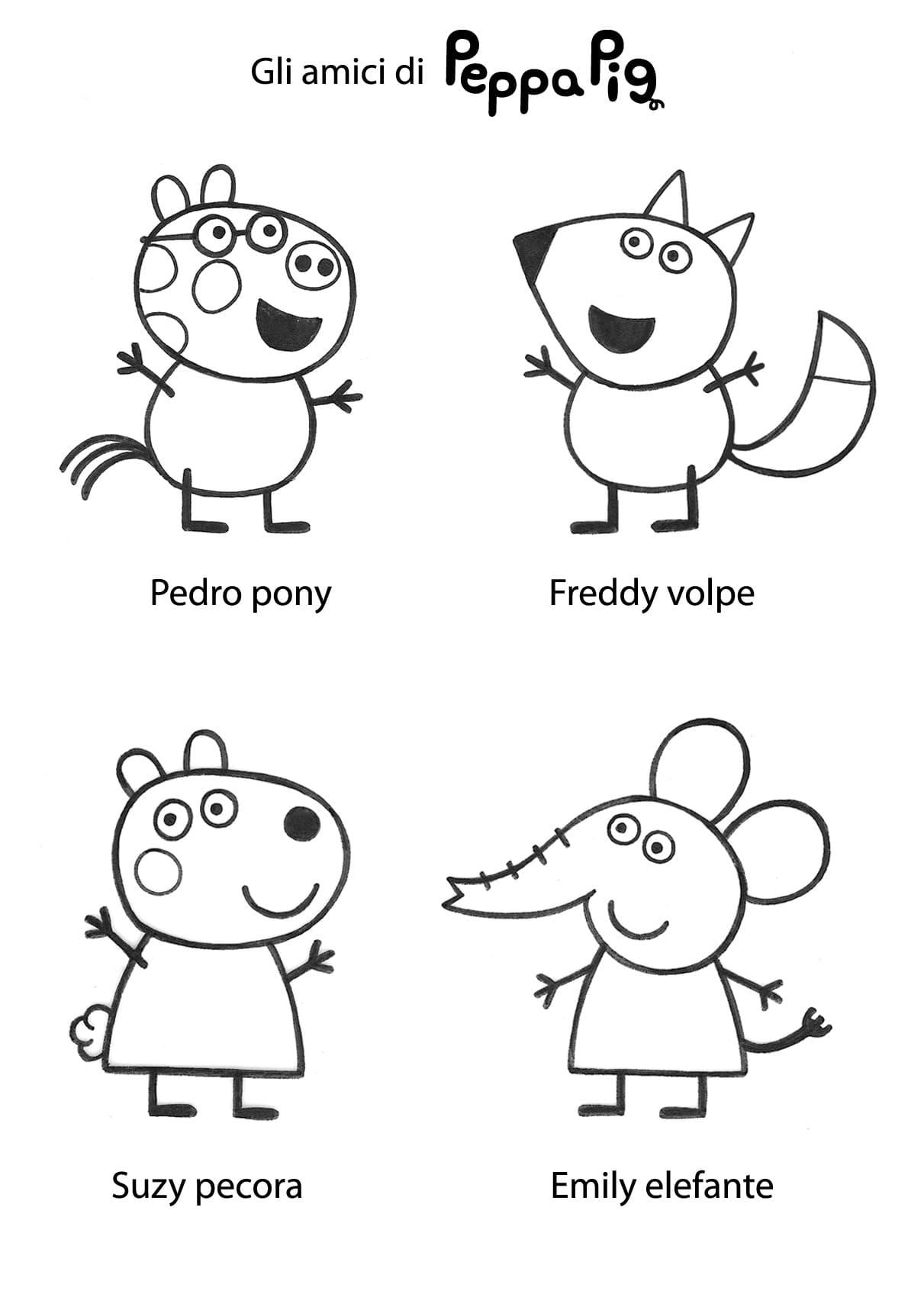 Disegno Di Peppa Pig Da Colorare.Disegni Di Peppa Pig Da Colorare Stampa Online 90 Immagini