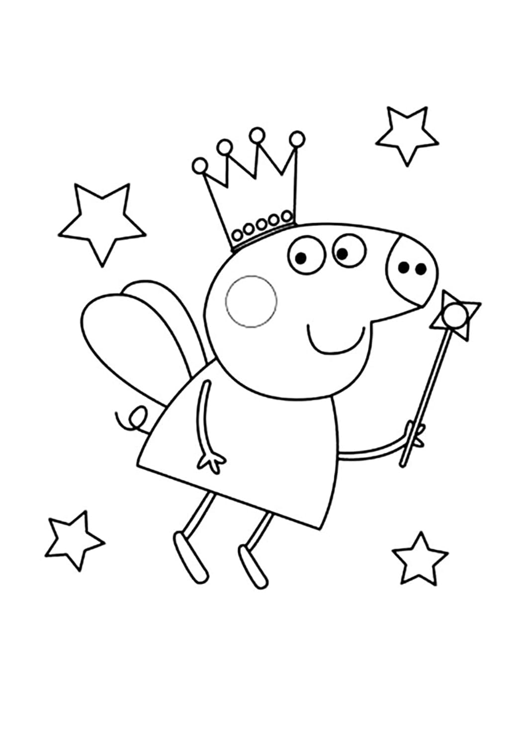 Peppa Pig Coloring Pages Her Family And Friends Print Online
