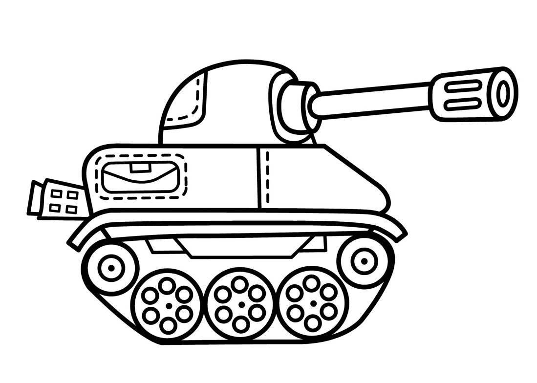 Нарисовать танк для открытки, цветы днем
