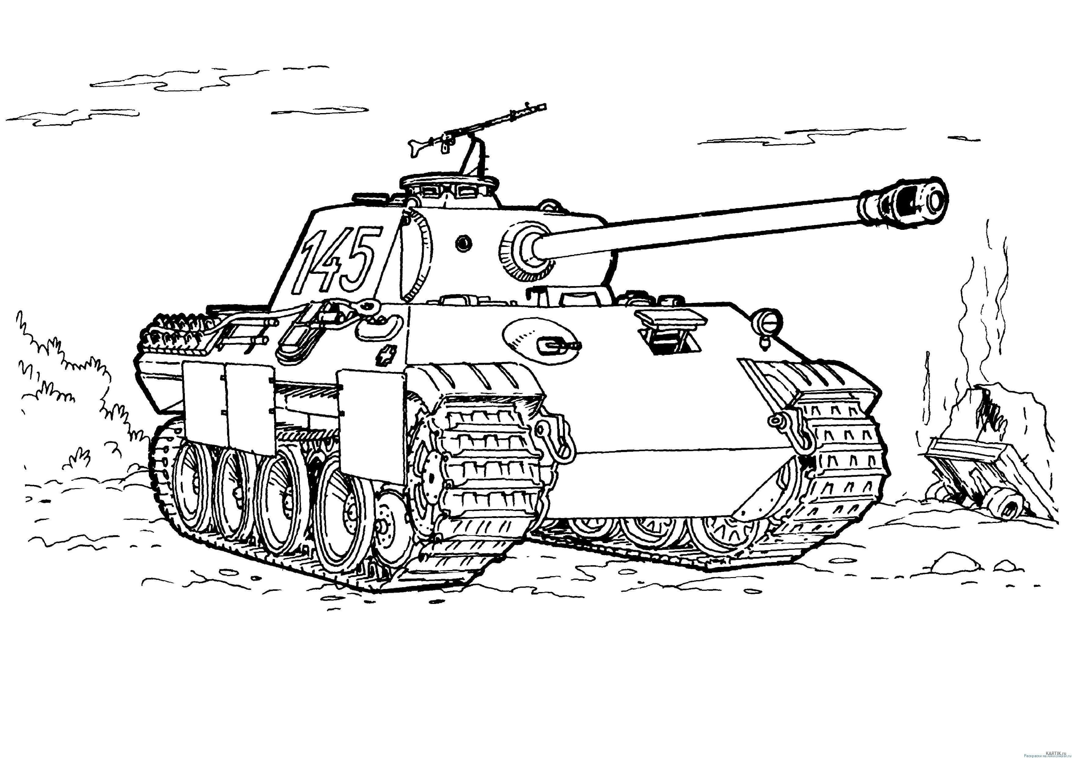 раскраски танки распечатайте для мальчиков 100 изображений