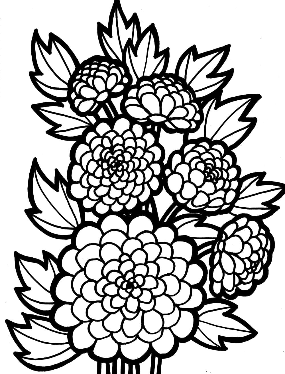 Free Intricate Flower Coloring Pages, Download Free Clip Art, Free ... | 1312x1000