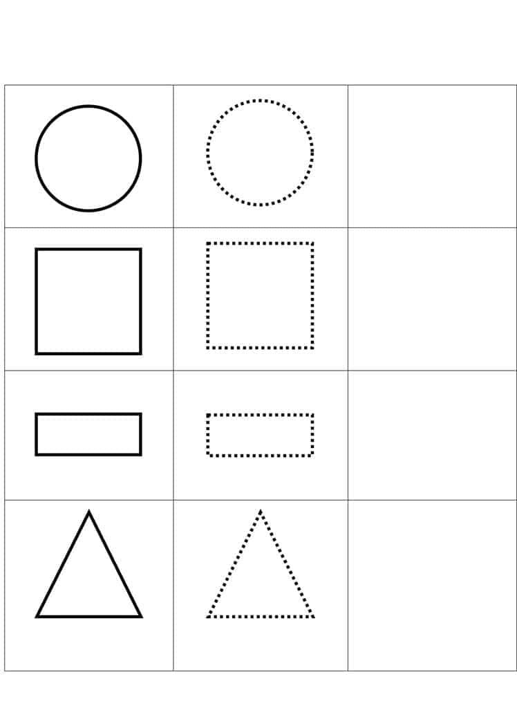Desenhos para colorir Formas Geométricas. Imprimir gratuitamente