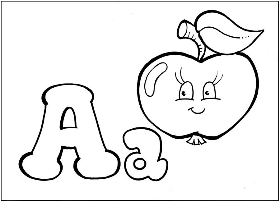 English Letters: Coloring Pages For Studying The English
