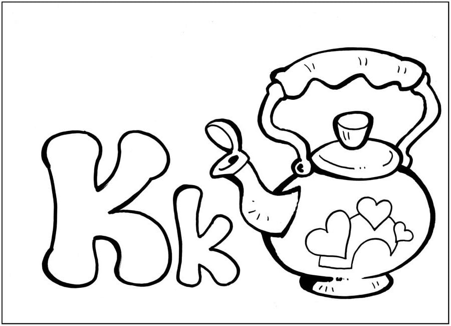 English Letters: Coloring Pages for Studying the English Alphabet
