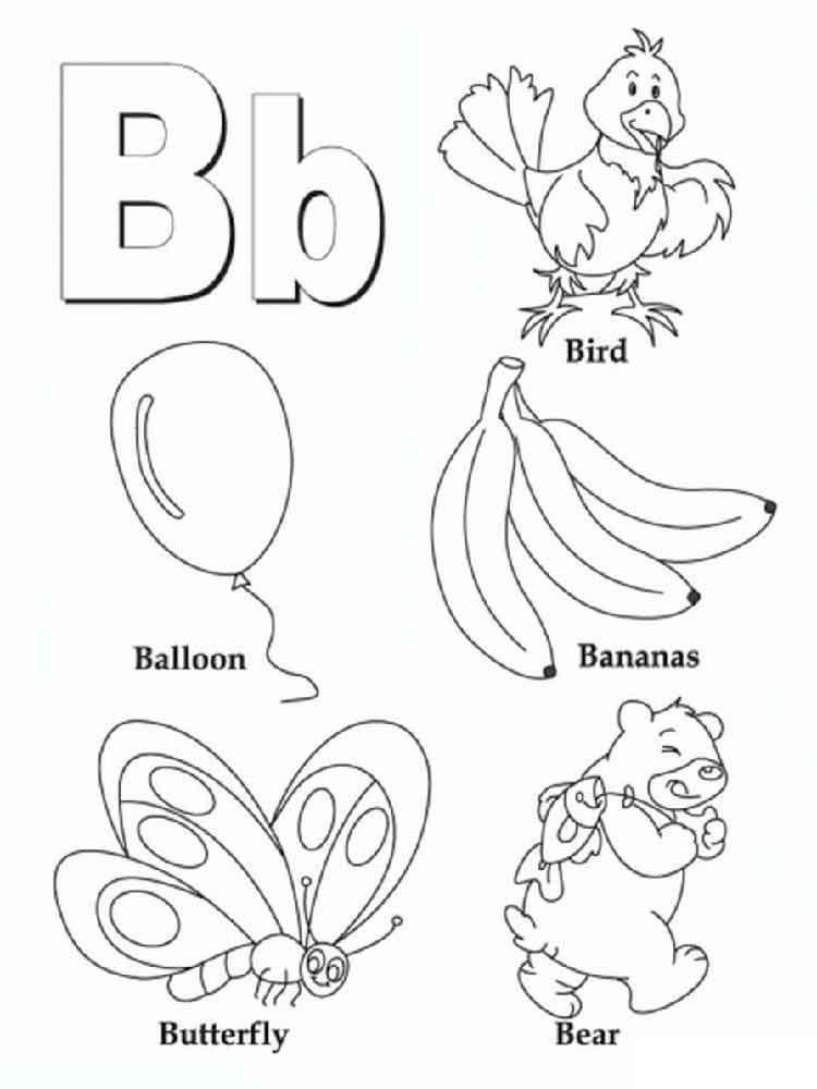 Letras en inglés: libros para colorear para estudiar el alfabeto inglés