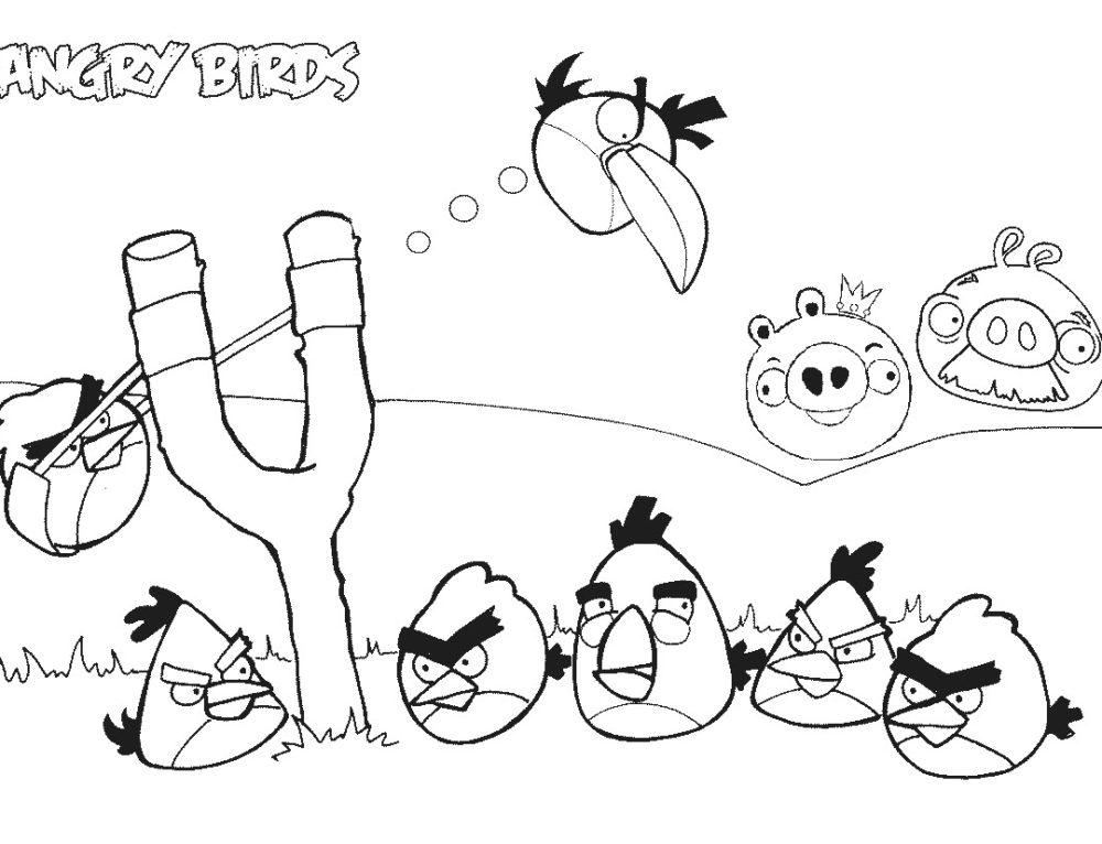 Dibujos para colorear Angry Birds. Imprime en línea para niños