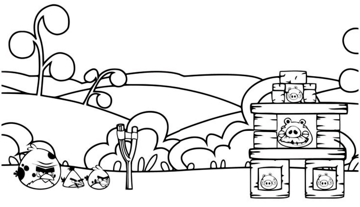 Coloring Pages Angry Birds. Print online for kids, best images