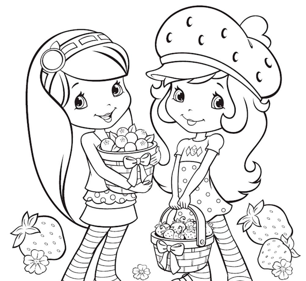 картинка раскраска для девочек