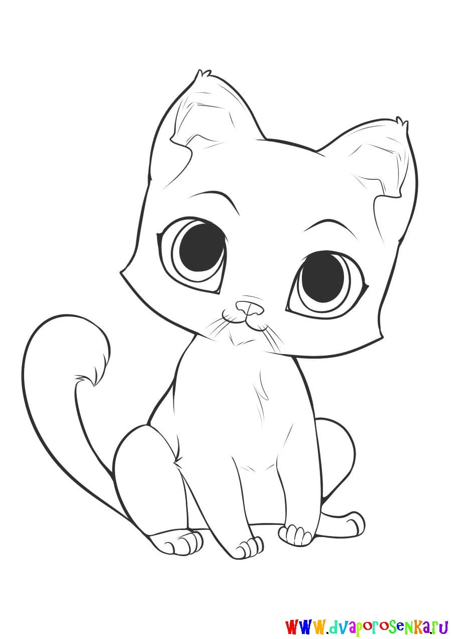 how to draw a cute cartoon cat wikihow - 979×979