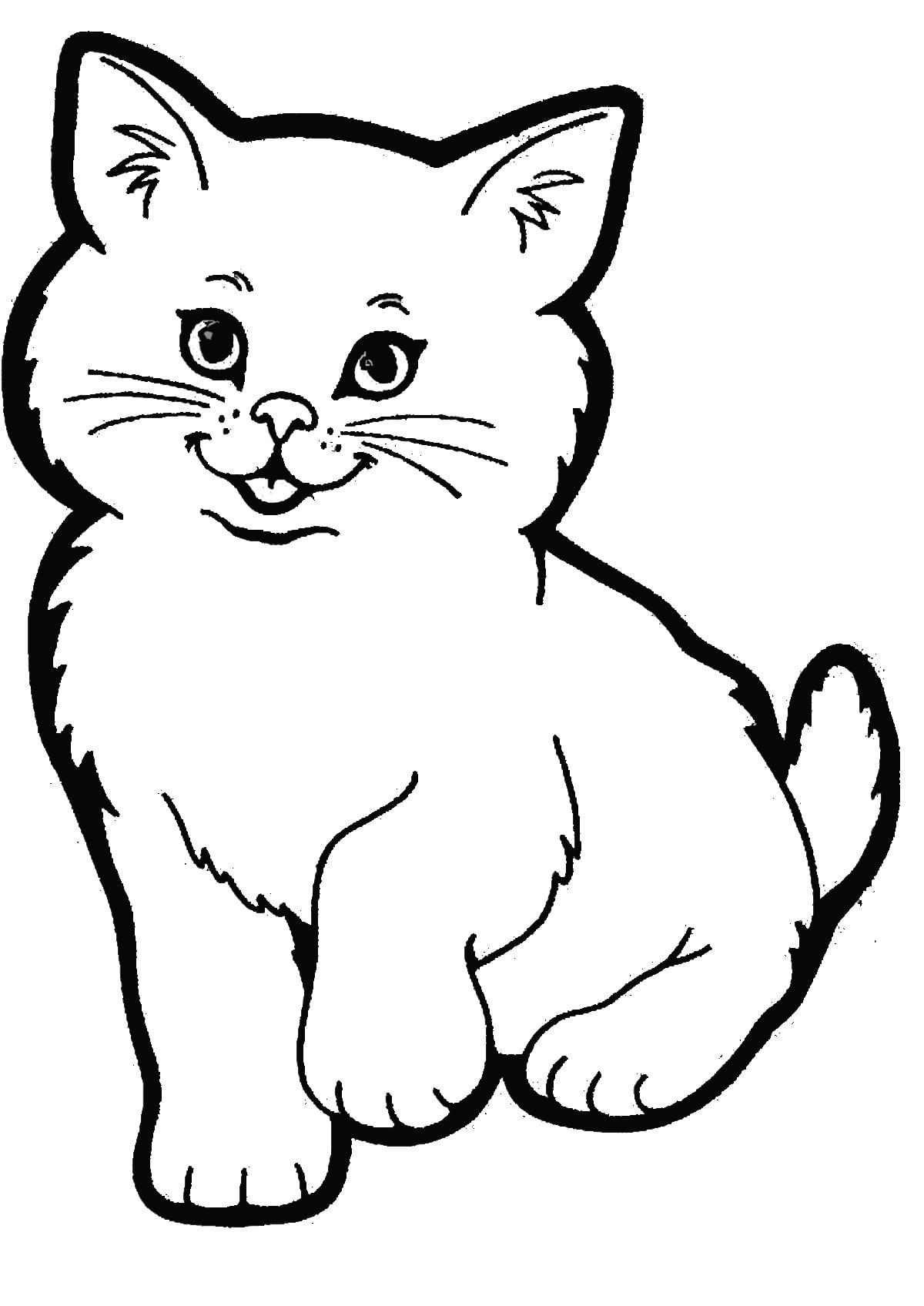 Immagine Di Un Gatto Da Colorare