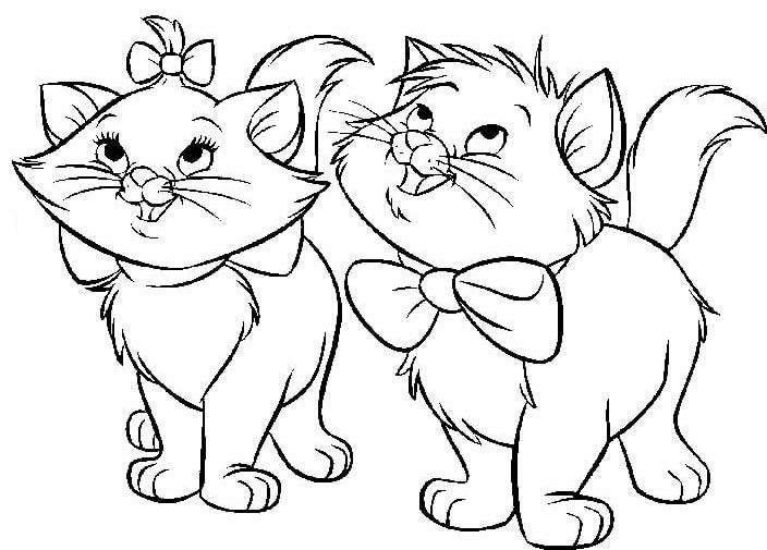 Gatos Páginas Para Colorear. Imprime 100 imágenes gratis en blanco y ...