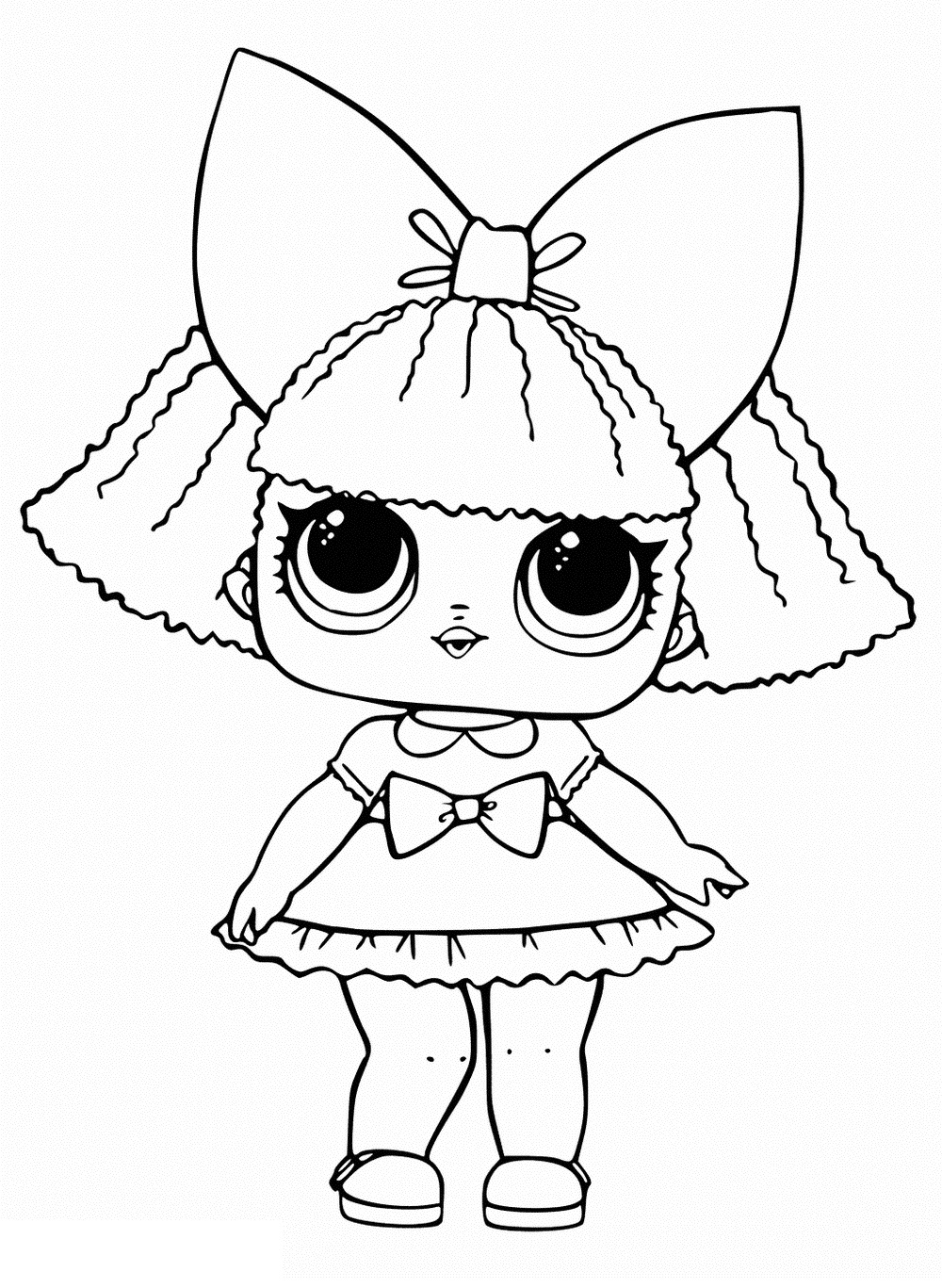 coloring pages dolls - photo#29