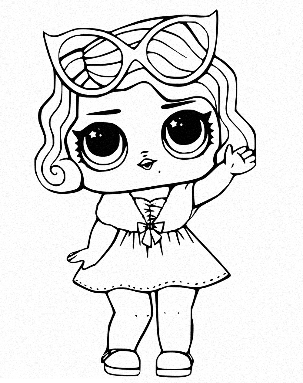 free lol coloring pages LOL Surprise Dolls Coloring Pages. Print out for Free! All the Series! free lol coloring pages