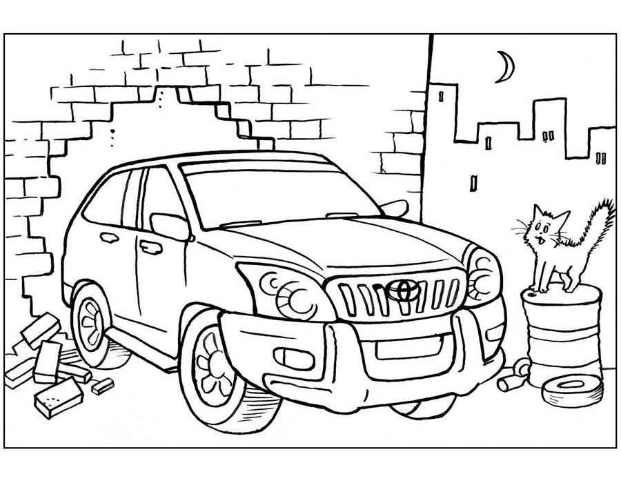 Carros, páginas para colorir para meninos. Imprima online aqui!