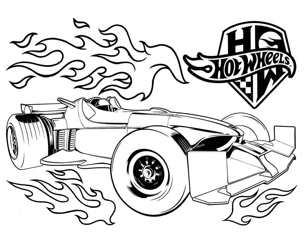 Hotwheels coloring printable for kids - Coloring Library | 800x1000