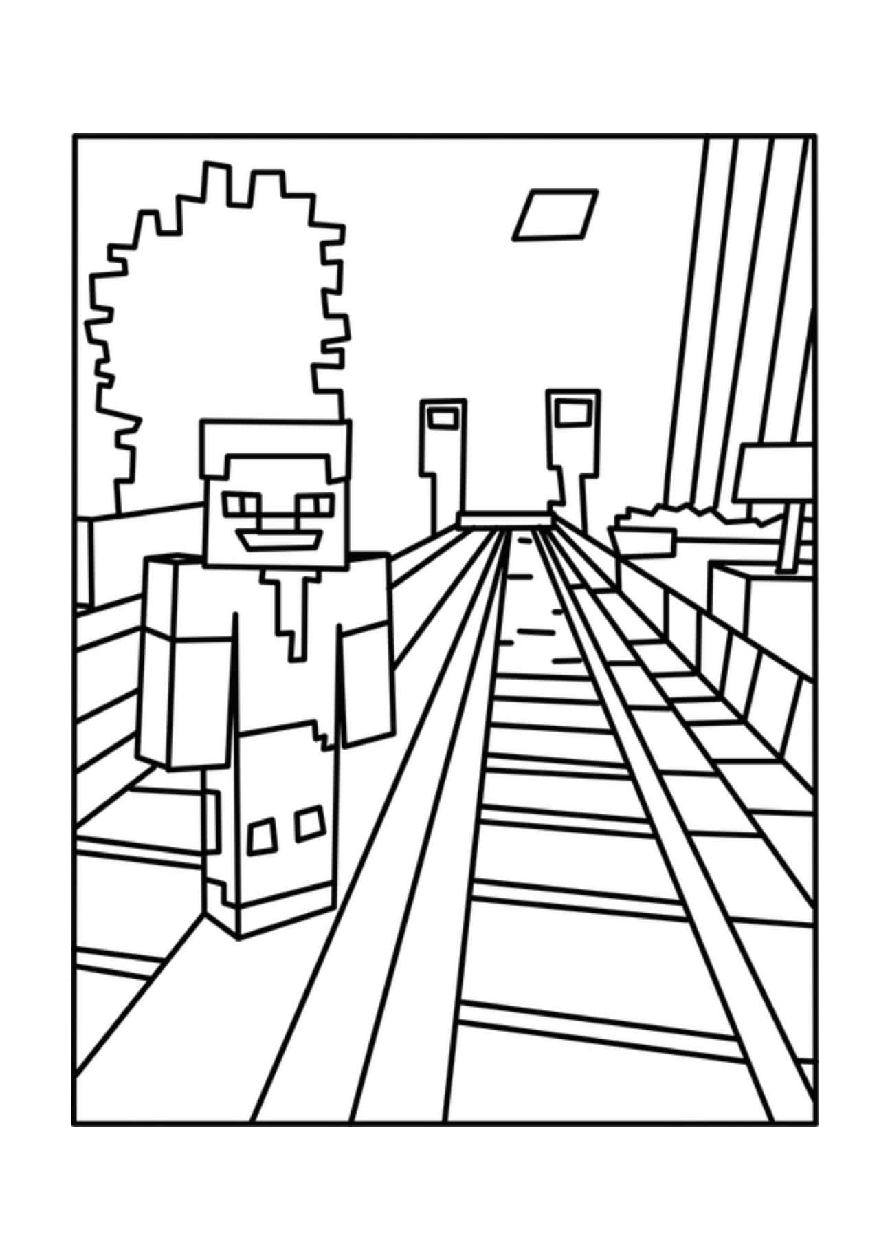 Minecraft Coloring Pages Print Them For Free 100 Pictures From The Game