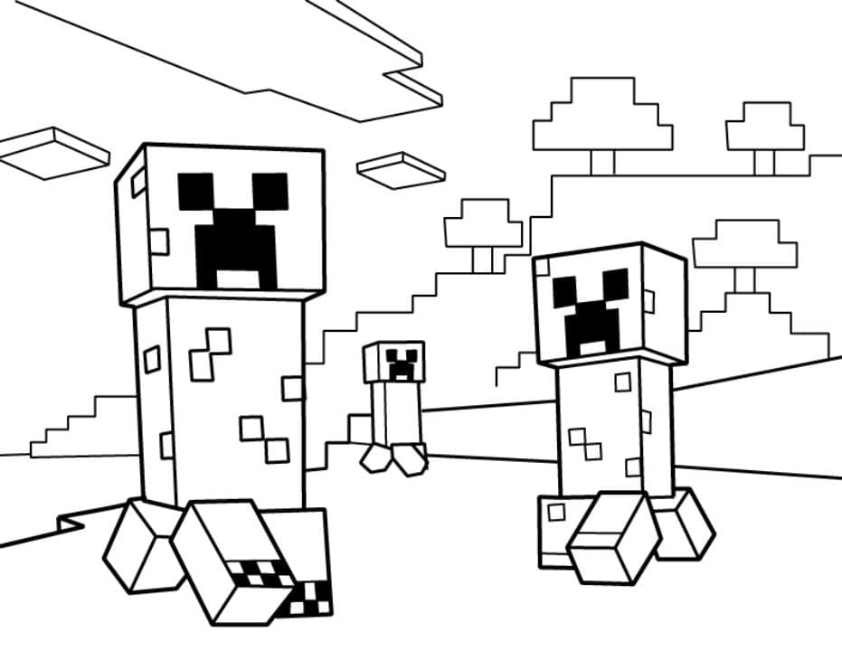 Minecraft Coloring Pages Print Them For Free 100