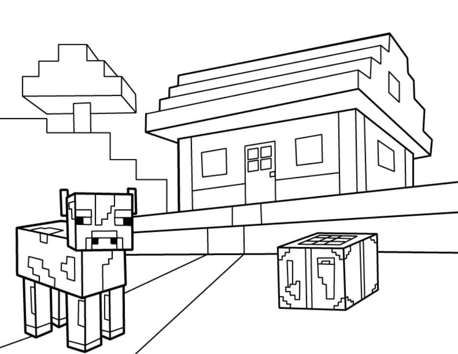minecraft cow coloring pages | Minecraft Coloring Pages. Print Them For Free! 100 ...