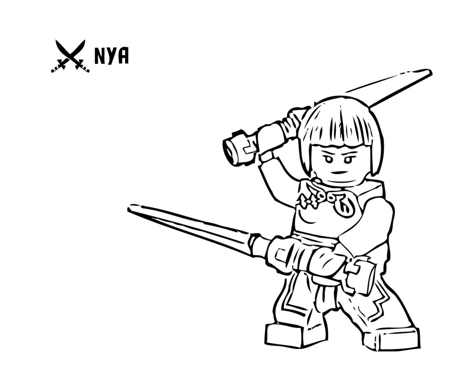 Раскраски Ниндзя Го от Лего. Распечатайте онлайн!