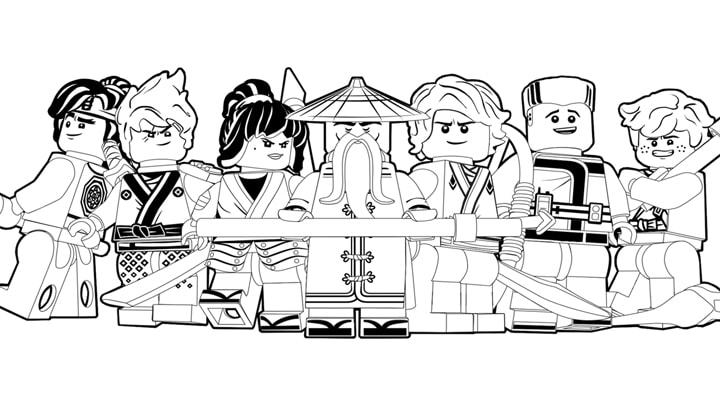 Раскраски Ниндзяго от Лего. Распечатайте онлайн!