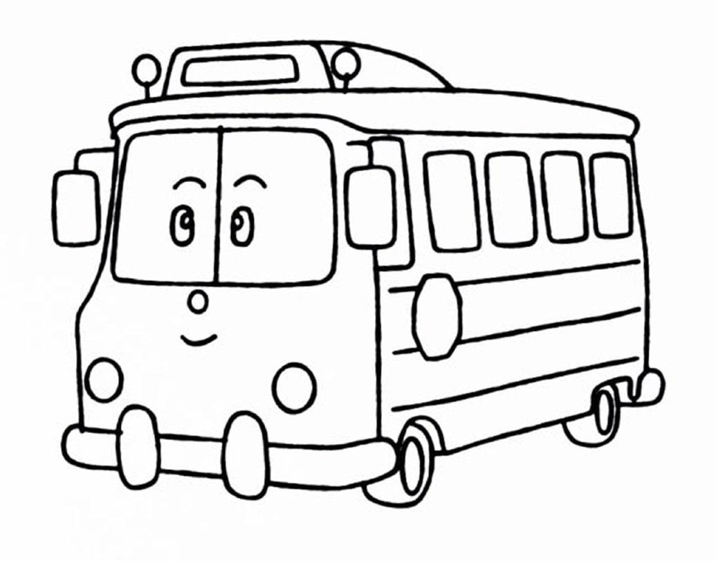 если картинки автобусов для раскраски съемку