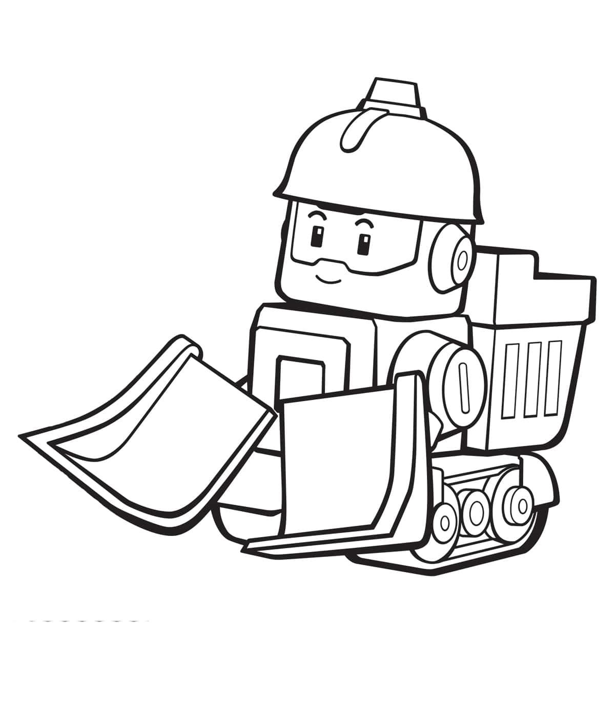 раскраски поли робокар распечатайте онлайн