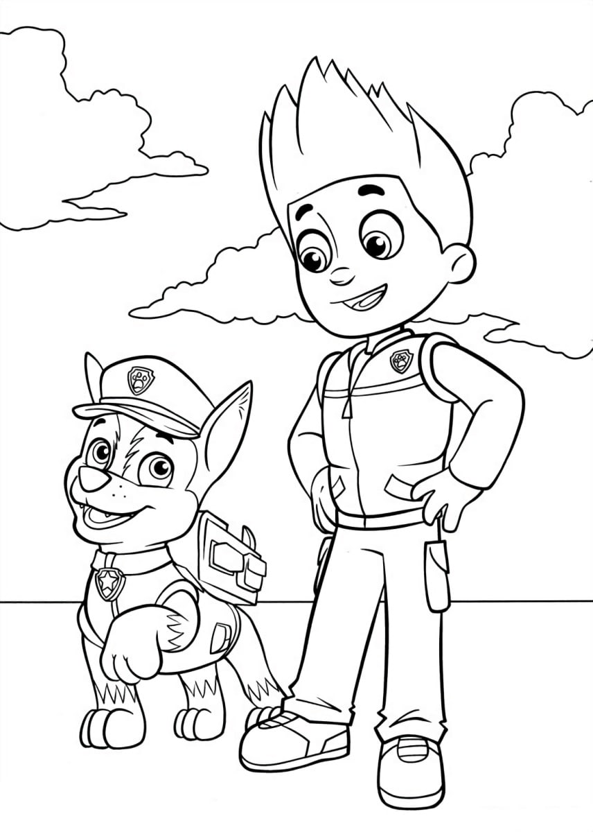 Paw Patrol Coloring Pages. 120 Pictures. Free Printable