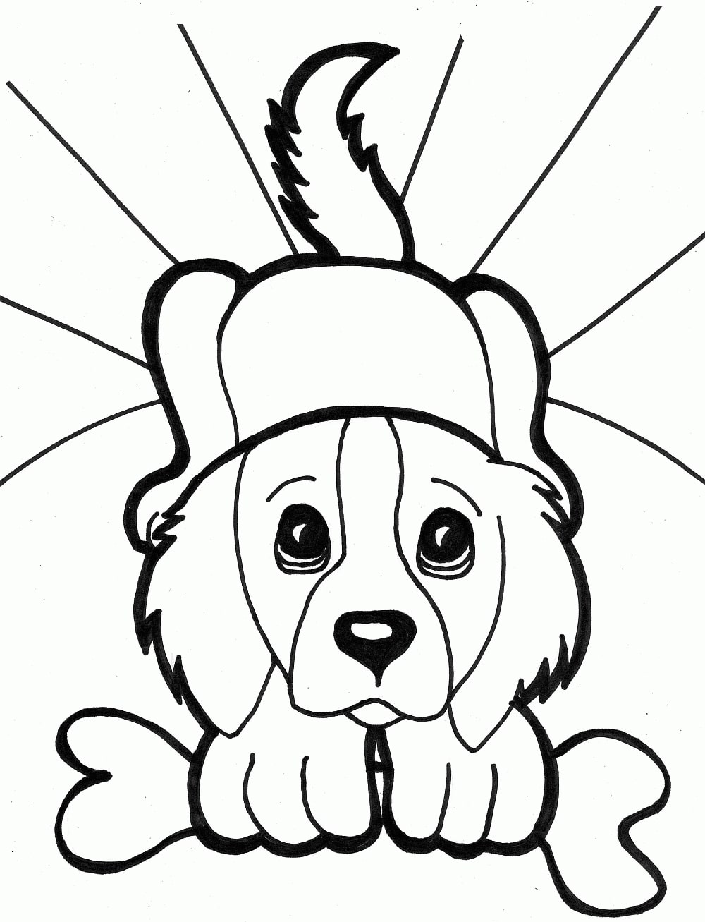 Dog Coloring Pages for Kids. Print Them Online for Free!