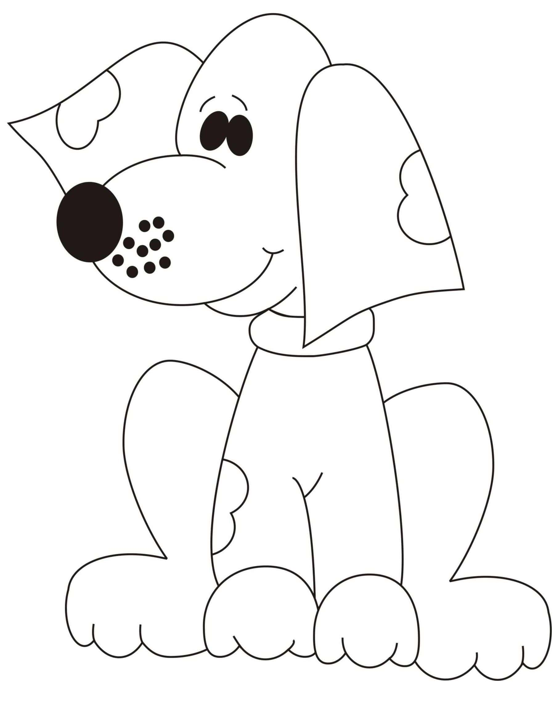 Dog coloring pages | 2324x1814