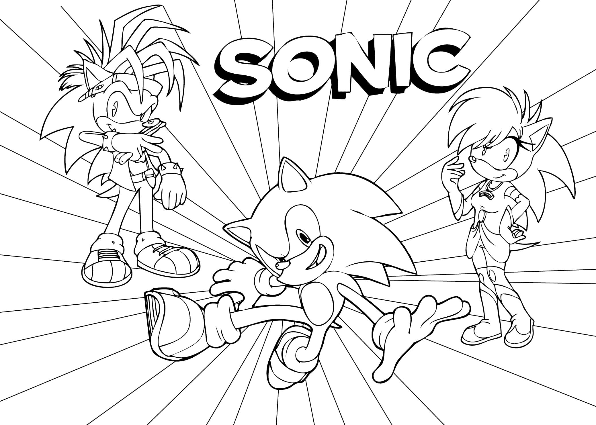 Sonic Coloring Pages 118 New Pictures Free Printable