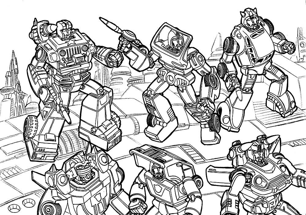 Transformers Coloring Pages. Print or Download for Free ...