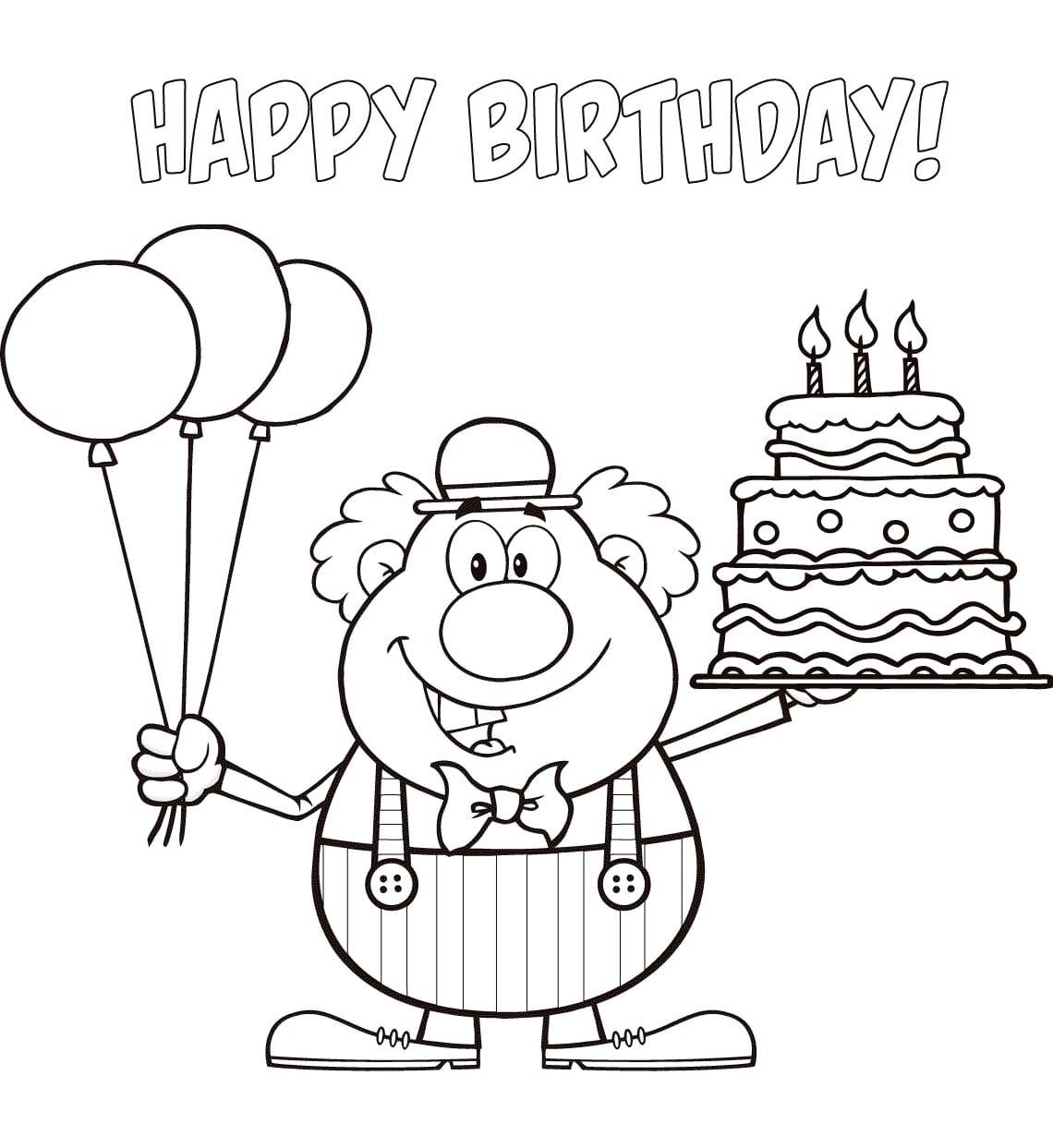 Открытки раскраски к дню рождения, пергамано