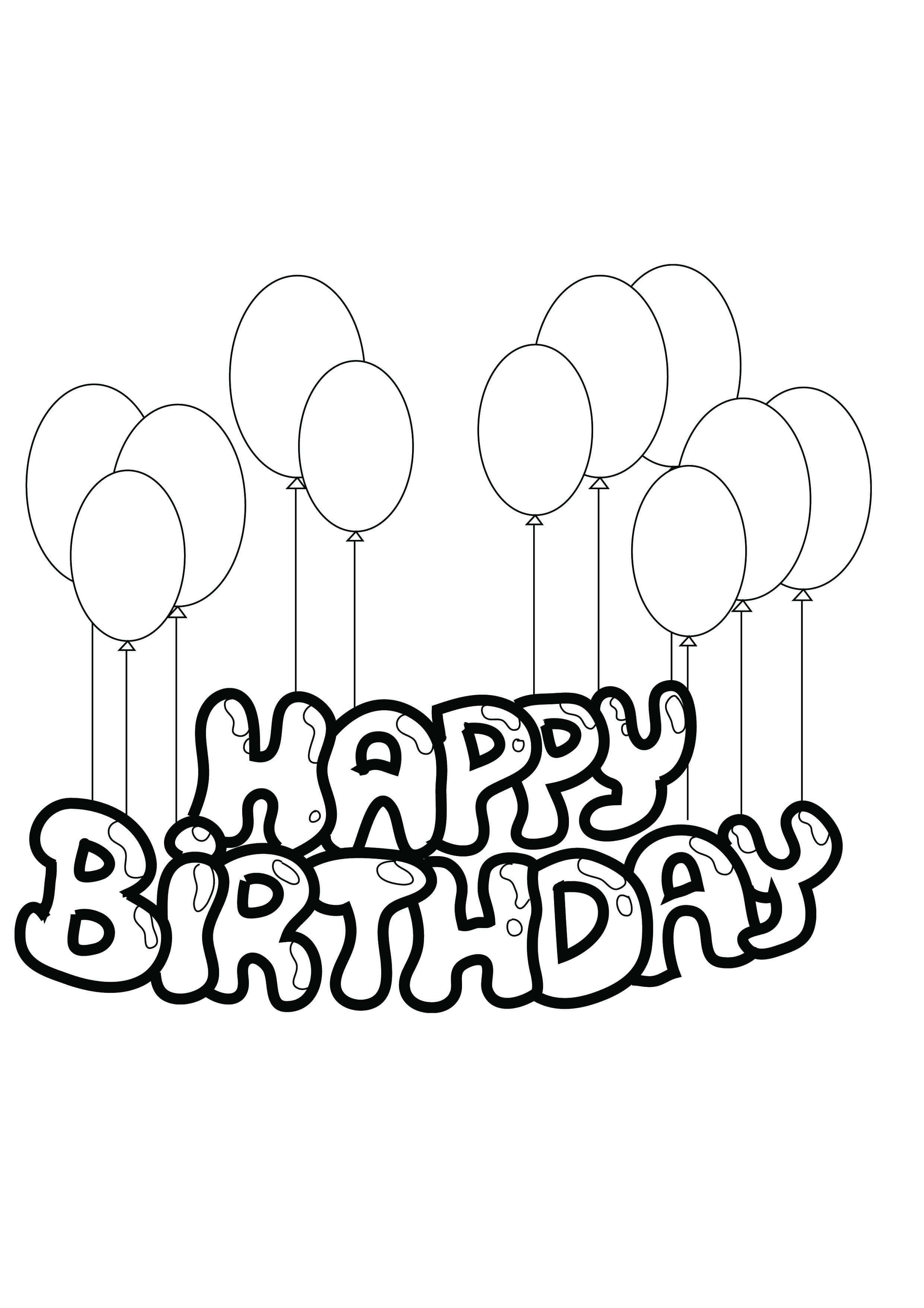 Рисунки на день рождения с надписями