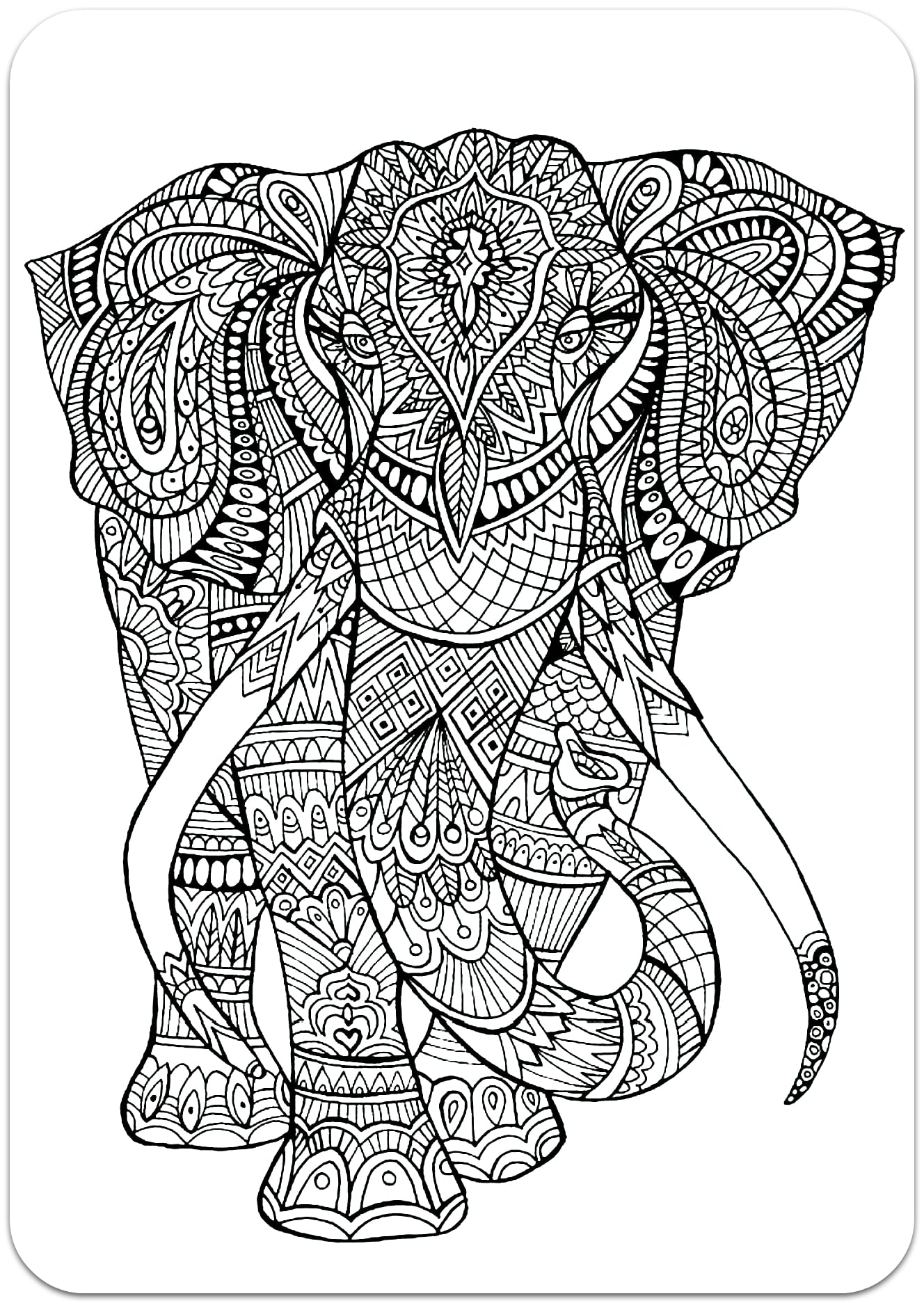 Complex Coloring Pages for 10
