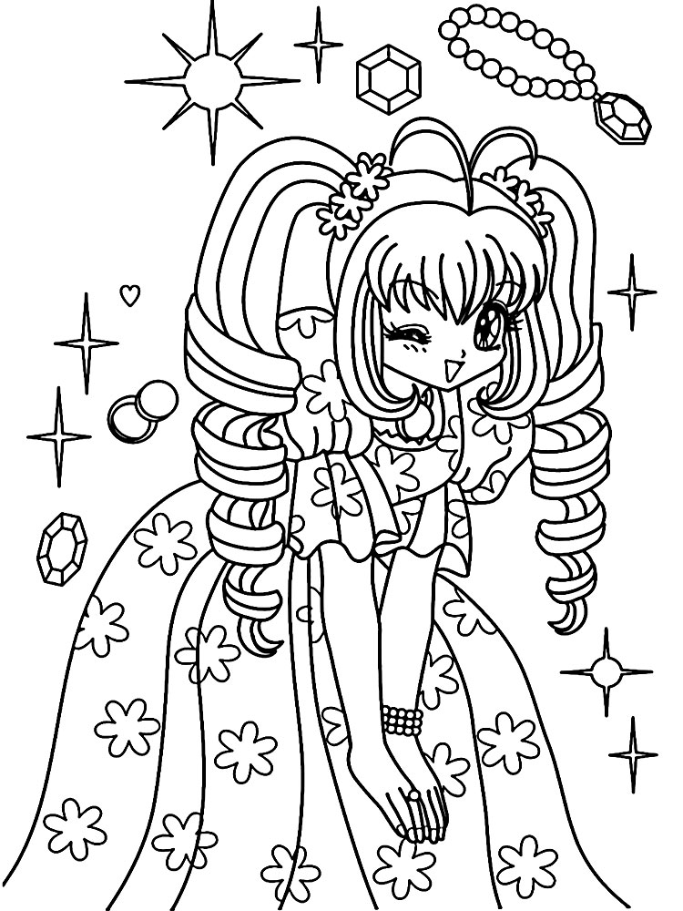 Complex Coloring Pages for 10- to 12-Year-Old Girls. Print Them for Free!