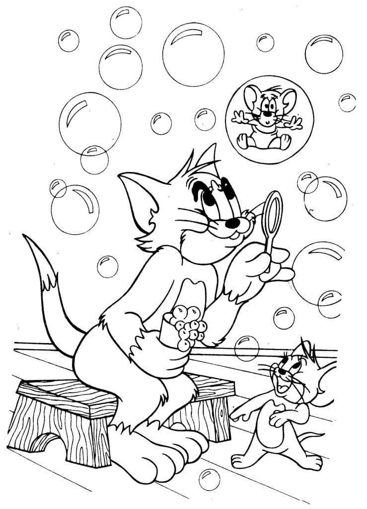 Раскраски Тома и Джерри для детей. Скачайте или распечатайте здесь!