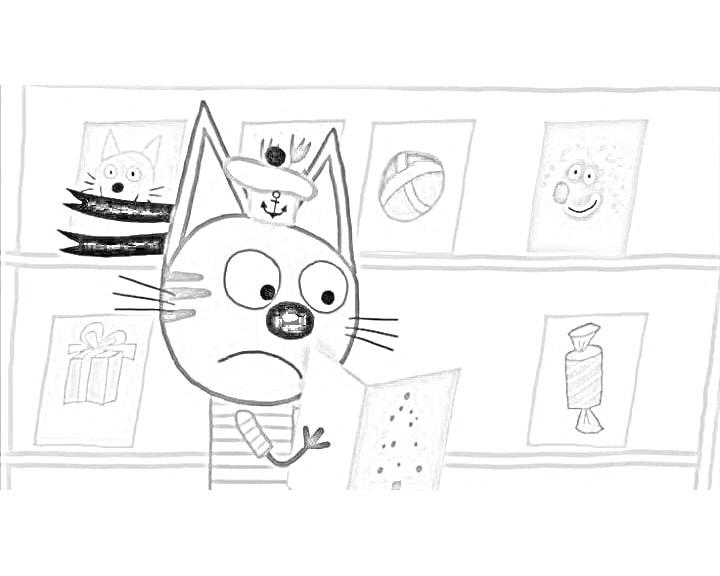 """Раскраски """"Три кота"""". Более 40 штук! Распечатайте бесплатно"""